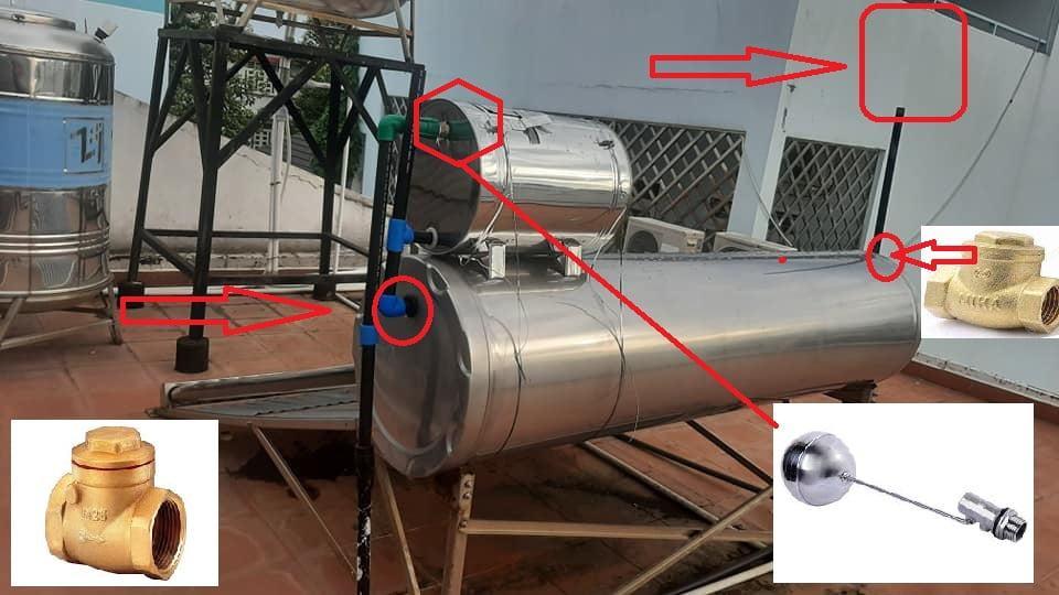 Cách sửa máy năng lượng mặt trời bị tràn nước