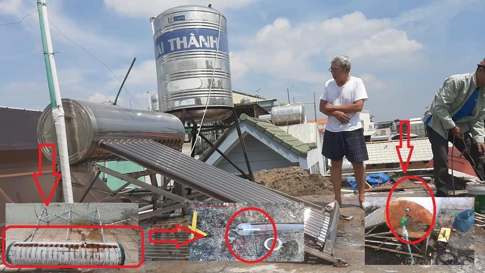 Sửa máy nước nóng năng lượng mặt trời đúng cách hiệu quả