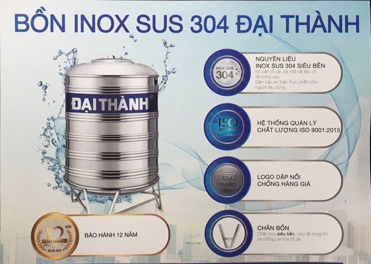 bồn nước inox Đại Thành