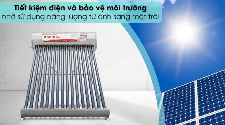 Máy nước nóng năng lượng mặt trời sơn hà 160 lít gold ∅58